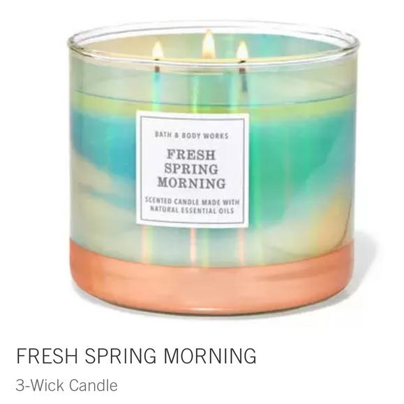 "🕯NWT‼️ BBW ""Fresh Spring Morning"" 3-wick Candle"